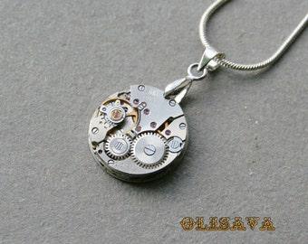 Watch movement  Steampunk   Pendant ,  Steampunk Jewelry , Steampunk Jewelry