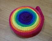 Sparkle Rainbow Sock Blank (one repeat) double stranded merino/nylon yarn with silver stellina