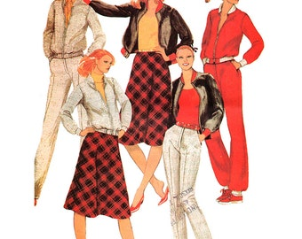 McCall's Sewing Pattern 7203 Misses' Jacket, Skirt, Pants  Size:  10  Uncut