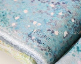 DOUBLE GAUZE- Dusty Blue Birds Eye, Nani IRO, Japanese Fabric, Double Gauze Cotton Fabric