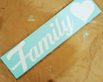 Family Wood Wall Sign