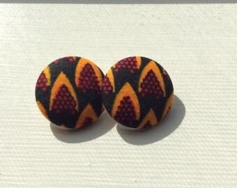 Fabric Print Earrings Size 45