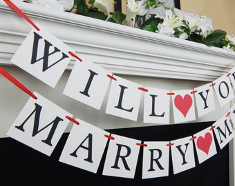 Will you marry me, proposal banner, will you marry me sign, engagement banner, marriage proposal, marry me banner, marry me sign