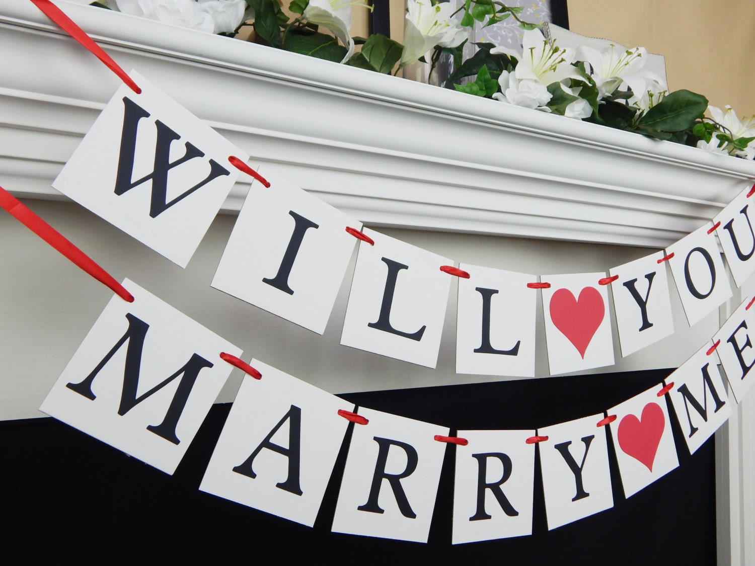 will you marry me proposal banner will you marry me sign