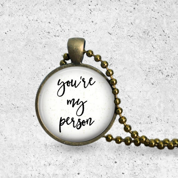 You're My Person, Best Friend Gift, Girlfriend Gift, Best Friend Necklace, Best Friends, Long Distance Relationship, Pendant Necklace, Charm