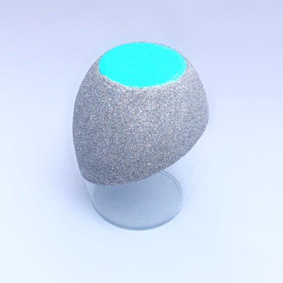 Stemless Glitter Silver Sparkle Wine Glass