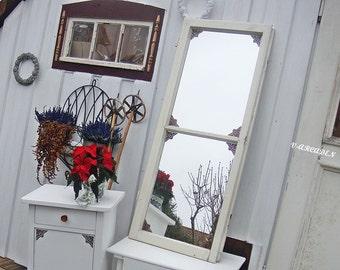 Antique mirror lattice Windows shabby housing, art, Christmas, gifts, window, mirror, frame