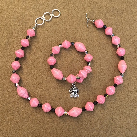 Paper Bead Jewelry Handmade Paper Beads Paper Bead Necklace