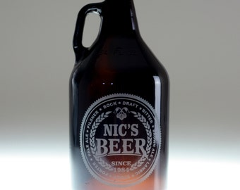 Personalized Beer Names growler, home brew gift , homebrew , beer gift , personalized gift , dad gift , christmas gift , friend gift