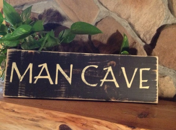Handmade Man Cave Signs : Rustic sign man cave handmade distressed home decor