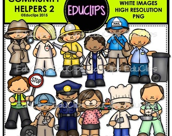 Items similar to Community Helpers Clip Art on Etsy
