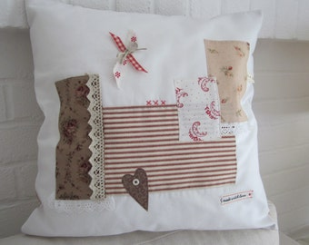 """Shabby Chic Patchwork Cushion  Cover  - 16"""" x 16"""""""