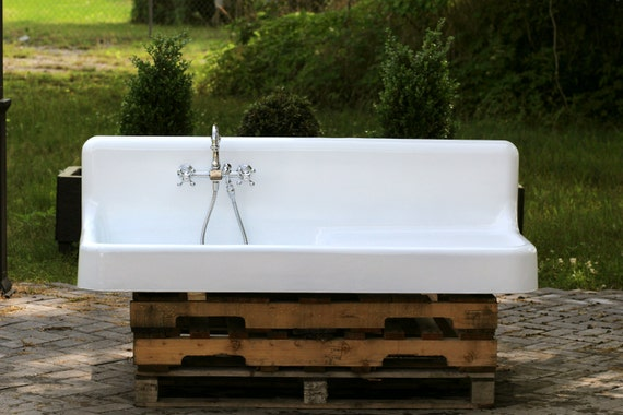 refinished 1920 farm sink 5 39 american standard single by readytore. Black Bedroom Furniture Sets. Home Design Ideas