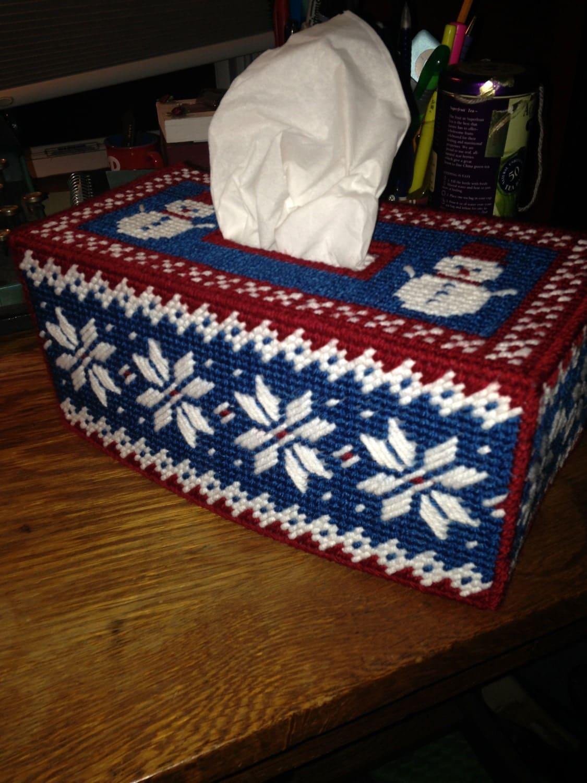 Winter PATTERN for Plastic Canvas Tissue Box Cover