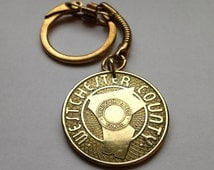 Westchester County NY Transportation transit Token coin pendant KEYCHAIN key ring initial W T Good For One Fare MAP White Plains No.K000036