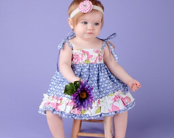 NEW Camilla   Double Ruffled Tunic or Dress sizes 3-6M to - 10Y Pdf Pattern Tutorial