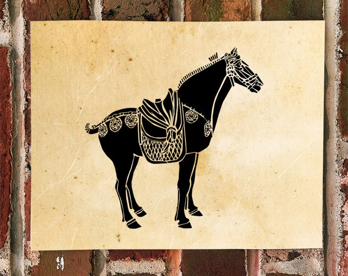 KillerBeeMoto: Limited Release Print of Tang Dynasty Chinese Horse Standing 1 of 50