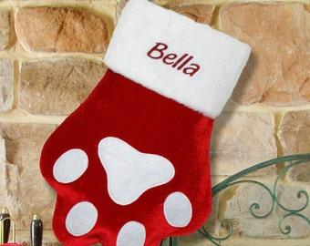 Monogrammed Pet Christmas Stocking