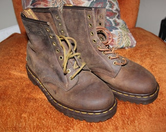 Dr. Martens 8 Eyelet Boots Size 7 Made In England