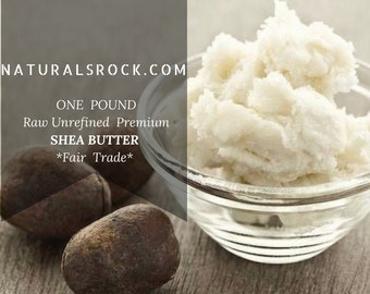 ONE POUND Raw Unrefined Organic Shea Butter *Fair Trade*