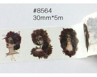 Witch Washi Tape -- Masking Washi Tape -Deco tape-- 30mm x5M