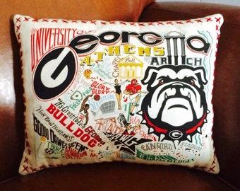University of Georgia Pillow