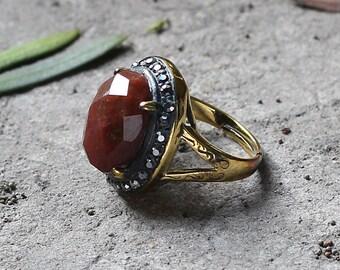 Phantom Jasper Ring Retro Style YHA-101