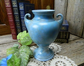 Vintage Art Deco Blue and Gray Urn Vase - Made in England - 77