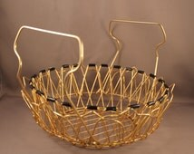 Great 50s 60s Egg or Fruit Wire Articular Joint Basket Mid Century Modern Design Harry Bertoia Style match Eames String danish furniture No2