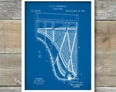 Grand Piano Patent Poster,  Vintage Patent Illustration, Art Print Poster, Wall Art, Home Decor, Music, Classical Orchestra, P283
