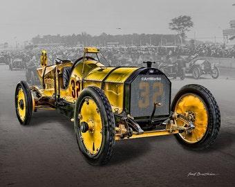 Classic Car Print - 1911 Marmon Waspt - Retro Print - Race Car - Sports Car - AW94