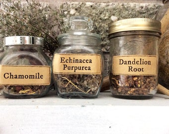 Medieval/Rustic Medicinal Herb Labels