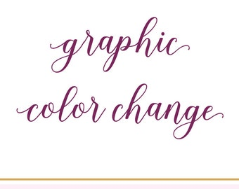 Customize Graphics on any Design in Shop / Graphic Color Change / #022