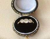 Vintage Old-cut Diamond Three Stone Ring  0.60cts