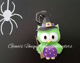 Green  Owl Needle Minder