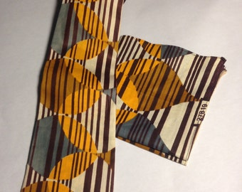 Kwame Tie and pocket square set