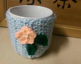 Crochet coffee cup cozy