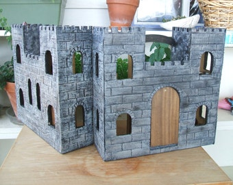 Wizard's Castle, Fairy Play House, Wee Folk Wooden Play House, Wooden Castle with furniture