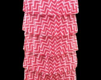 "The ""Lainey"" Ruffle Skirt in Chevron"
