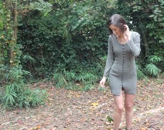 Striped 90s Mini Dress. Size 4.