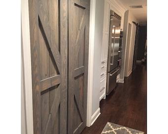 Hinged   Bi Fold    Sliding Pantry Doors by Rustic Luxe - British Brace Design