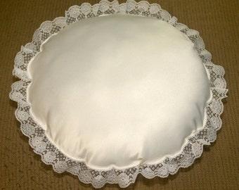 Pearl Satin Ring Bearer Pillow