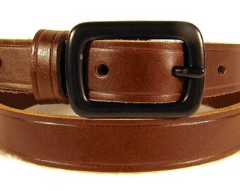 Belt Brown Leather Belt Black Leather Fashion Belt Black Iron Buckle