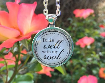 It is Well With My Soul Pendant Necklace