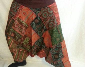 OM 1 - 5 Harem Patch Pants - COLOR CHOICES - 1 through 4