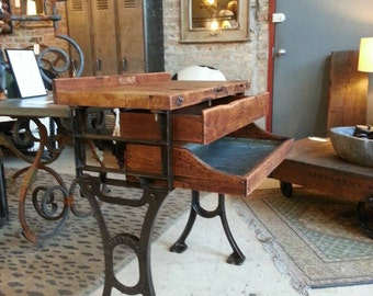 Vintage industrial Lieman Bros jewlers work bench