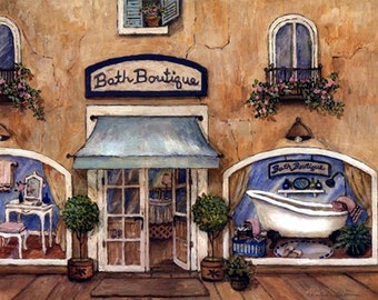 Bath Boutique - Counted cross stitch pattern in PDf format