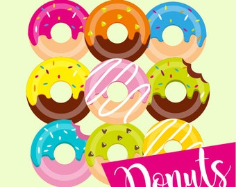 Donuts Clip art colorful