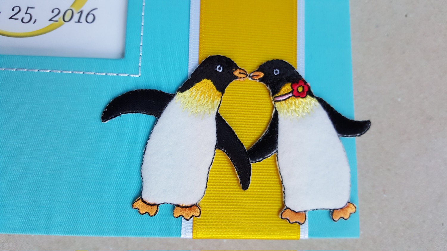 Aninimal Book: Two Penguins Kissing