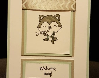 Welcome Baby Fox Shower Invitation (Set of 10)